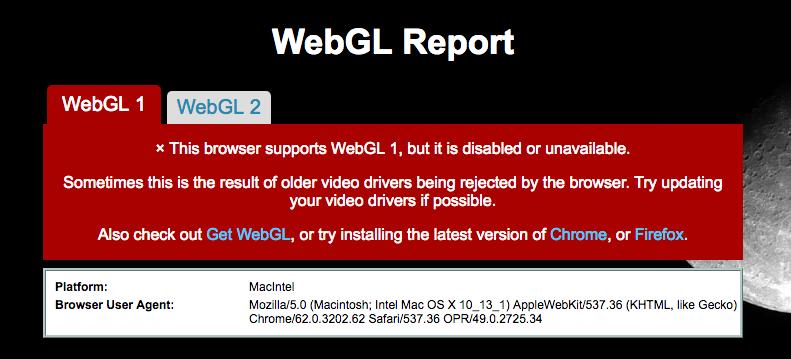 WebGL doesn't work only in Opera | Opera forums