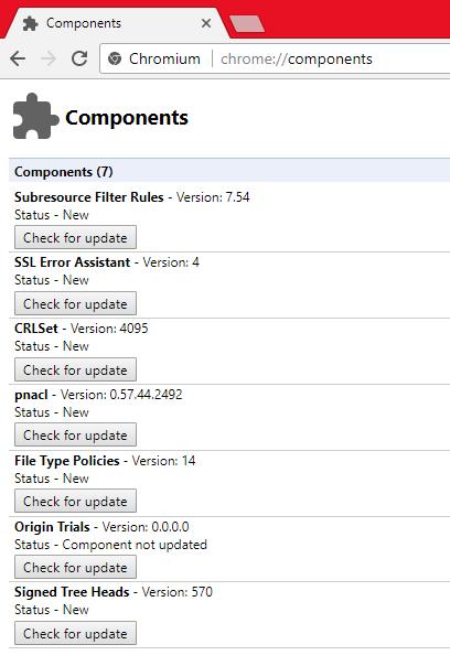 update widevine component