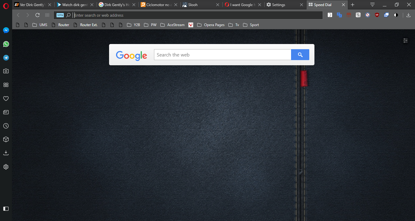 I want Google homepage when I click the four little boxes | Opera forums