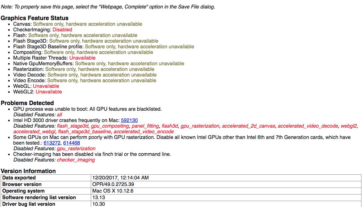 WebGL doesn't work only in Opera   Opera forums