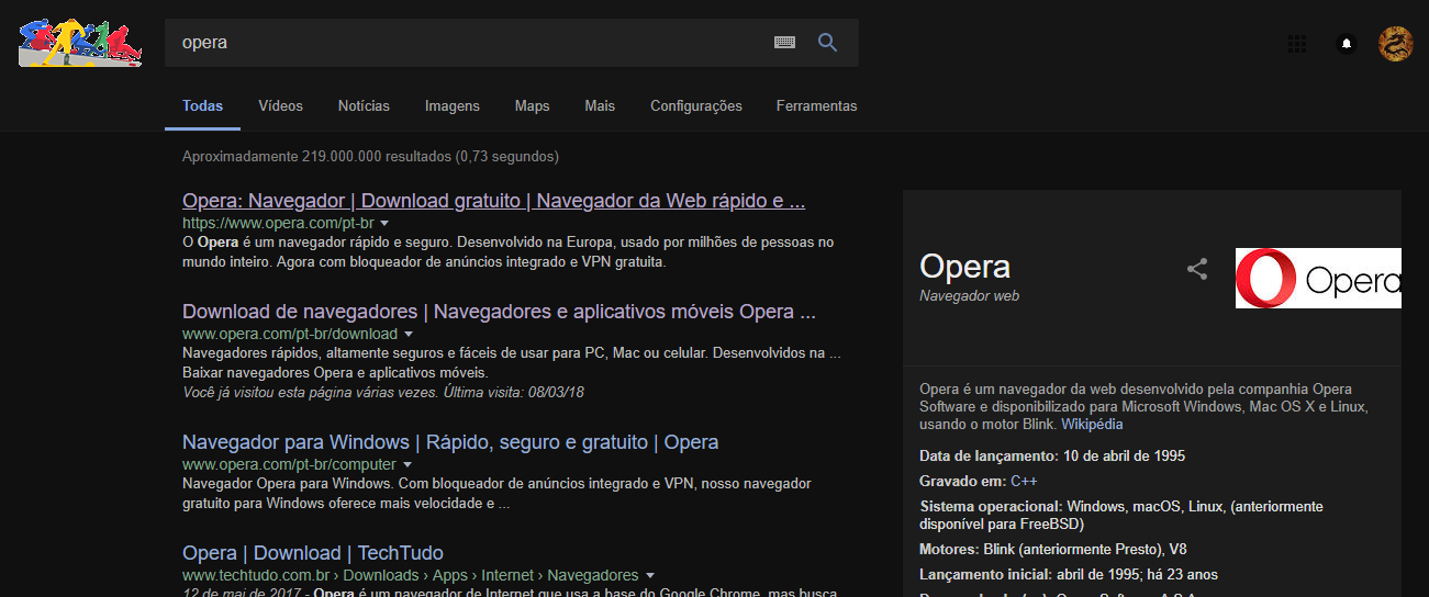 Darker transition loading pages  | Opera forums