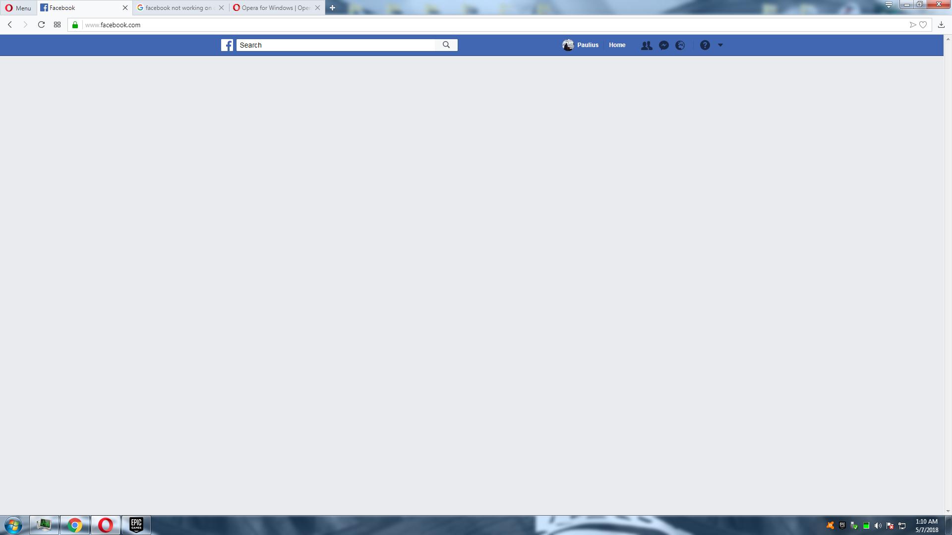 facebook not loading on opera? | Opera forums