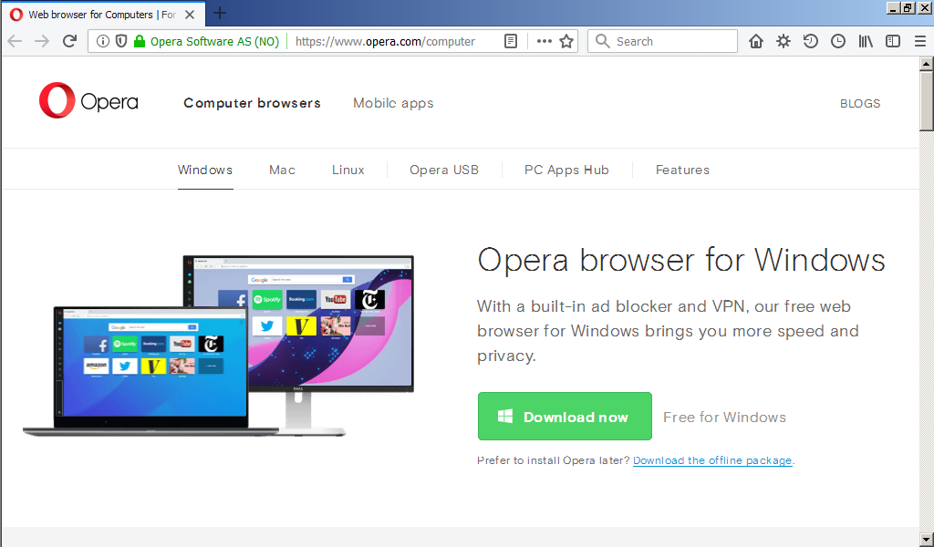 opera free download for windows 7 64 bit filehippo
